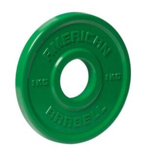 American Barbell 1 kg Urethane Fractional Vægtskive