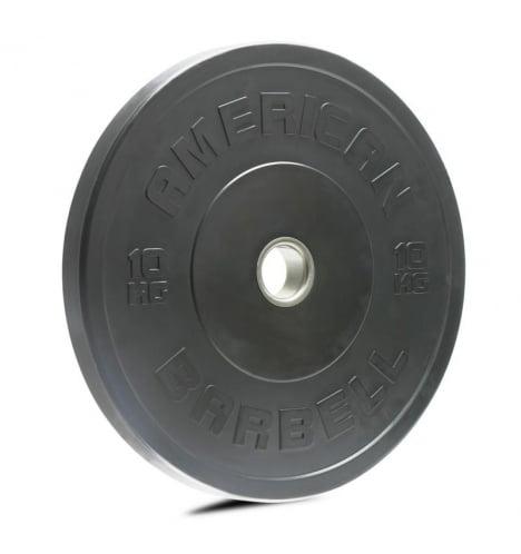 American Barbell 10 kg Sort Bumper Vægtskive