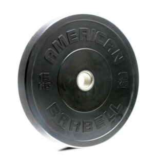 American Barbell 15 kg Sort Bumper Vægtskive
