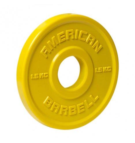American Barbell 1,5 kg Urethane Fractional Vægtskive