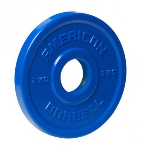 American Barbell 2 kg Urethane Fractional Vægtskive