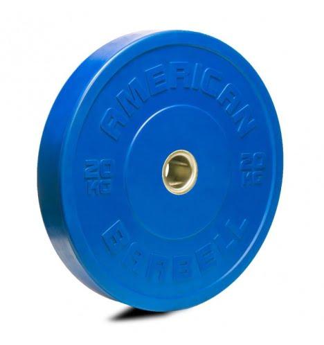 American Barbell 20 kg Farvet Bumper Vægtskive
