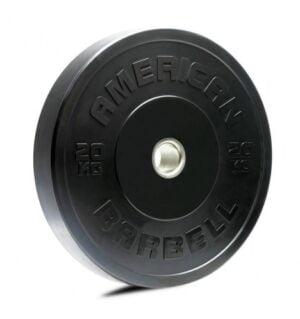 American Barbell 20 kg Sort Bumper Vægtskive