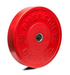 American Barbell 25 kg Farvet Bumper Vægtskive