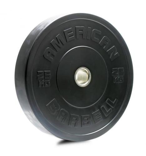 American Barbell 25 kg Sort Bumper Vægtskive