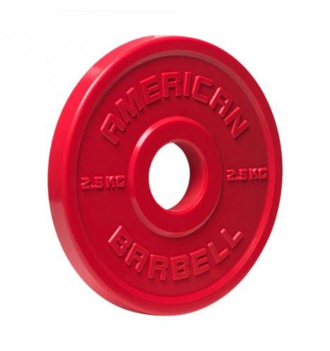 American Barbell 2,5 kg Urethane Fractional Vægtskive