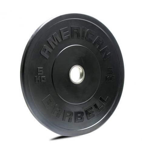 American Barbell 5 kg Sort Bumper Vægtskive