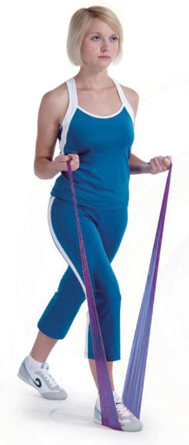Aserve Latexfri Træningselastik Super Heavy Violet 5,5m