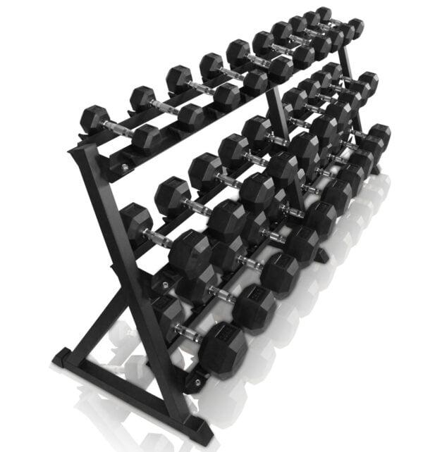 ODIN 545kg Hex Set PAKKETILBUD (15 sæt håndvægte + rack)