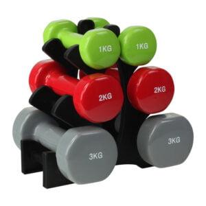 ODIN Håndvægte Sæt (Stativ, 2x1kg, 2x2kg & 2x3kg)