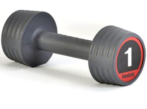 Reebok Gummi Håndvægte 1kg (2 stk.)