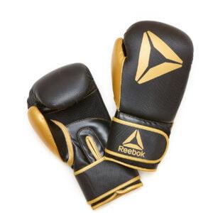 Reebok Retail Boxing Gloves 12OZ Gold/Black Boksehandsker