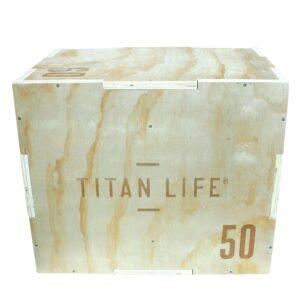 TITAN LIFE Plyo Boxes Wooden 3-in-1 (40cm, 50cm & 60cm)