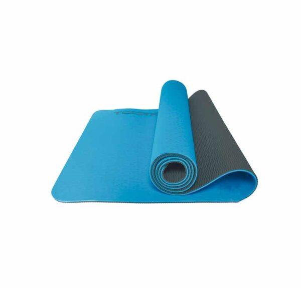 Toorx Pro Yogamåtte - 6 mm (Blå/Grå)