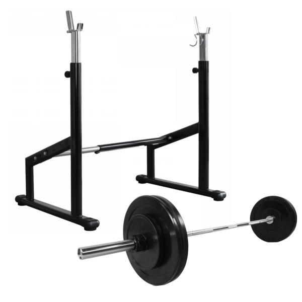 cPro9 Pro Squat Rack + Vægte & Vægtstang (50kg)